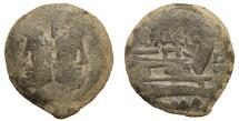 Q. Marius Libo. 148 BC. AS. Rome mint Scarce aVF, sandy patina.