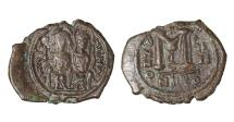 Ancient Coins - Justin II Follis, struck AD 563/564. Mint of Nicomedia \ Byzantine coin