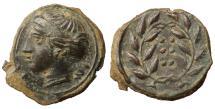 Ancient Coins - Sicily. Himera Æ Hemilitron. 415-409 BC. \ aUNC