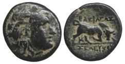 Ancient Coins - Seleukid Kingdom Seleukos I Nikator 312-281 BC Bronze XF \ Greek Coins
