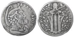 World Coins - Papal States Benedict XIV 1740-1758 Grosso Rare aXF