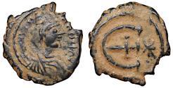 Ancient Coins - Justinian I. 527-565 AD. AE Pentanummium. Antioch VF+