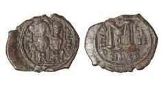 Ancient Coins - Justin II Follis, struck AD 563/564. Mint of Nicomedia \ Byzantine coin