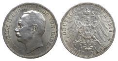 World Coins - Germany. Friedrich II. 3 Mark 1914. XF\UNC