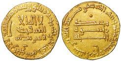 World Coins - ISLAMIC Abbasid al-Mahdi Gold Dinar Baghdad 164 H  Rare XF\UNC