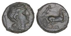 Ancient Coins - Sicily Syracuse Fourth Democracy Bronze XF+ Dark Green olive patina