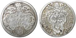 World Coins - Papal States ROME Pope Innocent XII 1691-1700 Giulio 1696 aUNC