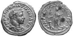 Ancient Coins - Elagabalus. 218-222 AD. Denarius \ INVICTVS \ XF