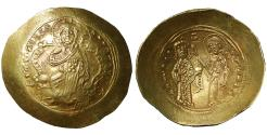 Ancient Coins - Constantine X Ducas (AD 1059-1067). Gold histamenon nomisma Mint State