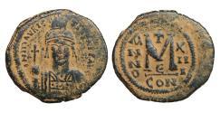 Ancient Coins - Maurice Tiberius 582-602 Æ follis XF \ Byzantine coins