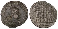 Ancient Coins - Constantius II. 328-329 AD. AE follis of Nicomedia. XF. Rated R4.