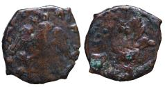 World Coins - Medieval Italy Sicily. Philip II of Spain. 1554-1598 AD 2 Piccioli. Messina mint