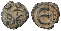 Ancient Coins - Justin II 565-578 AD AE Pentanummium Constantinopolis aXF \ Byzantine Coin