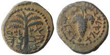 "Ancient Coins - JUDAEA Bar Kochba Revolt (AD 132-135). AE ""small bronze"". Rare. XF\UNC"
