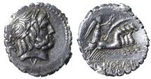 Q Antonius Balbus. Denarius Serratus. 83-82 BC. VF+
