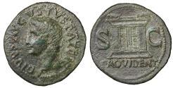 Ancient Coins - Divus Augustus Æ As Struck under Tiberius 31-37 AD aXF