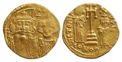 Ancient Coins - Constans II 641-668 AD Gold Solidus VF\XF Byzantine Coins