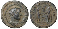 Ancient Coins - Galerius As Caesar AD 293-305 AE post-reform radiate XF \ Roman Coin