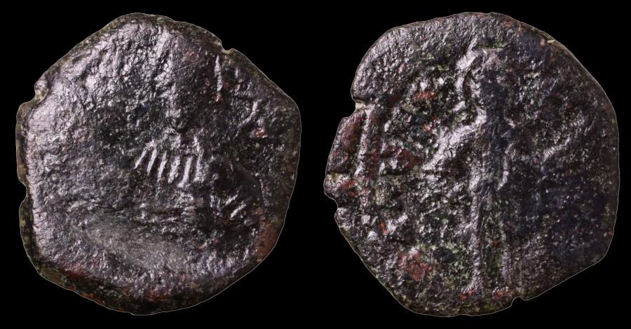 Ancient Coins - Alexius III Angelus-Comnenus. 1195-1203 AD. AE Tetarteron. Thessalonica mint