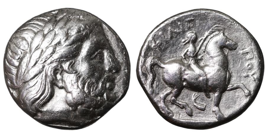 Ancient Coins - MACEDONIA. Philip II. 359-336 BC. AR Tetradrachm. Amphipolis mint.