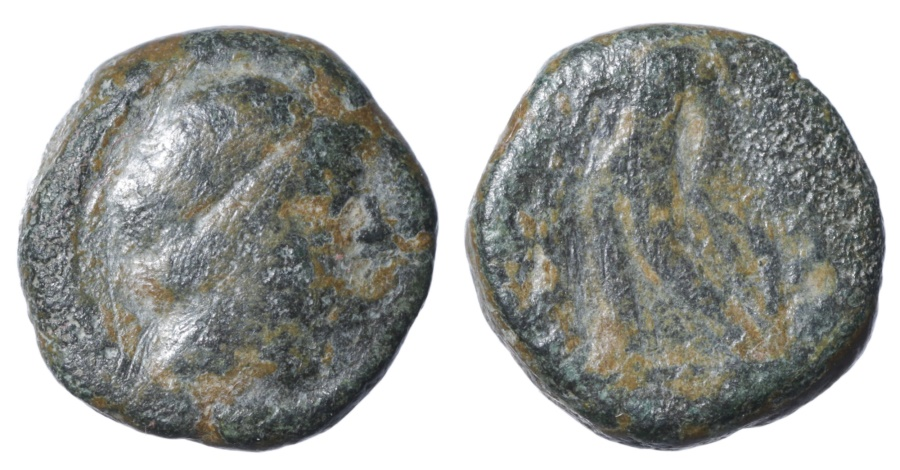 Ancient Coins - Seleucid. Antiochus III. 223-187 BC. AE11. Scarce. VF