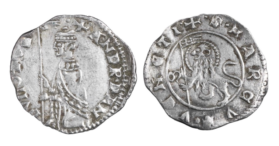 World Coins - ITALY REPUBLIC OF VENICE. Andrea Dandolo. 1343-1354 AD. AR SOLDINO NEW TYPE