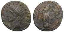 Ancient Coins - Divus Augustus AE Dupondius Restitution by Tiberius AD 34-7  RR. VF+