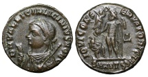 Ancient Coins - Licinius II as Caesar. 317-324 AD. Heavy Follis. Antioch MINT STATE