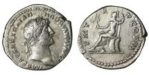Ancient Coins - Hadrian. Denarius. 123 AD. Roma. XF