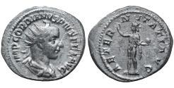 Ancient Coins - Gordian III 238-244 AD Silver Antoninianus. \ AETERNITATI  \ XFG
