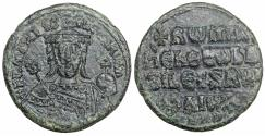 Ancient Coins - Romanus I Lecapenus Æ Nummus Follis AD 920-944 XF