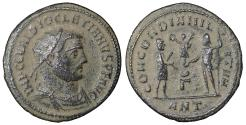 Ancient Coins - Diocletian 284-305 AD Æ Radiate Antioch AD 296  Sand Patina. UNC \ Roman Coins