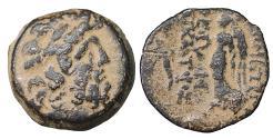 Ancient Coins - Seleukid Demetrios II Nikator 129-125 BC Bronze Sandy patina. XF