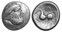 Ancient Coins - Celts in Eastern Europe AR Tetradrachm Kugelwange Type Circa 3rd century  aXF