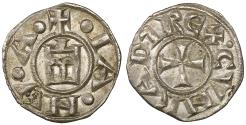 World Coins - Italy. Genua Republic 1139-1339AD. Denar. UNC