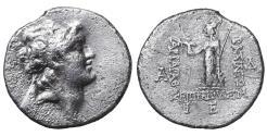 Ancient Coins - Cappadocian Ariarathes VI Epiphanes Philopator 130-160 AD. Drachm. VF