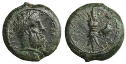 Ancient Coins - Sicily Syracuse Æ Hemidrachm. Time of Timoleon 344-338 BC Attractive patina, Near Extremely Fine.