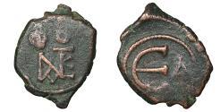 Ancient Coins - Justinus II 565-578 AD AE Pentanummium VF+ \ Byzantine Cpin