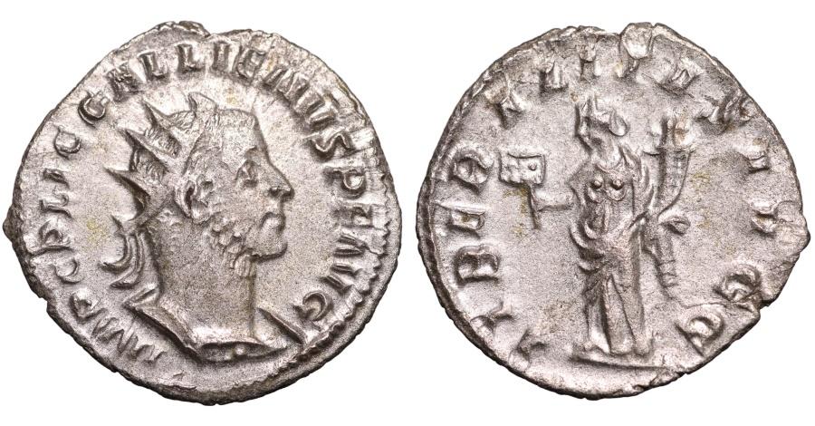 Ancient Coins - GALLIENUS 253-268 AD. ANTONINIANUS. LIBERALITAS AVGG