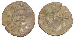 World Coins - Italy Padua Francesco II Da Carrara. 1390-1405 dC. Quattrino da 2 Denari. VF Rare
