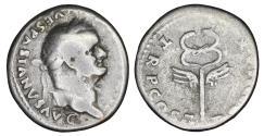 Ancient Coins - VESPASIAN 69-79 Denarius Rome aXF Winged caduceus