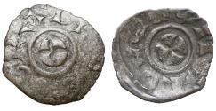 World Coins - VENICE Enrico Dandolo 1192-1205 Scyphate denar Rare aXF