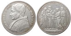 World Coins - Papal States Gregory XVI Scudo 1834 XF+