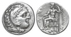 Ancient Coins - MACEDON Antigonos Monophthalmos in the name of Alexander III the Great 336-323 BC Drachm XF\UNC