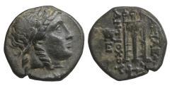 Ancient Coins - Kings of Syria Antiochos II Bronze  Sardis 261-246 XF+