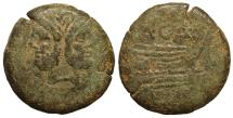 Ancient Coins - A. Caecilius A.f. Ca. 169-158 B.C. AE As VF