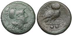Ancient Coins - Apulia, Teate. Circa 225-200 BC. Biunx. VF\XF