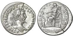 Ancient Coins - Septimius Severus 193-211 Denarius Laodicea XF Salus \ Roman Coins
