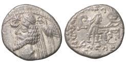 Ancient Coins - Phraates IV  38-2 BC Raghae mint Silver AR Drachm Rare VF/XF