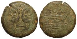 Ancient Coins - A. Caecilius A.f. Ca. 169-158 B.C. AE As VF